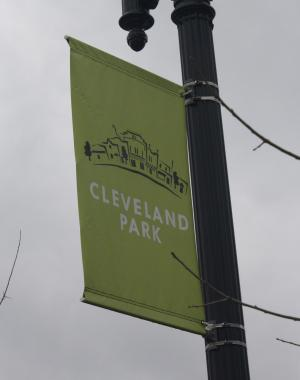 A shot of a banner for Cleveland Park