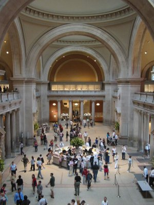 The lobby of the Metropolitan Museum of Art, New York