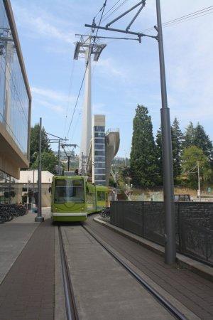Portland Streetcar meets the Portland Aerial Tram