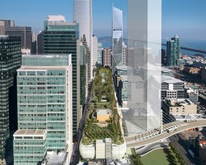 A rendering of the replacement Transbay Terminal