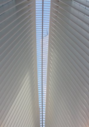 One World Trade Center alines with the central skylight