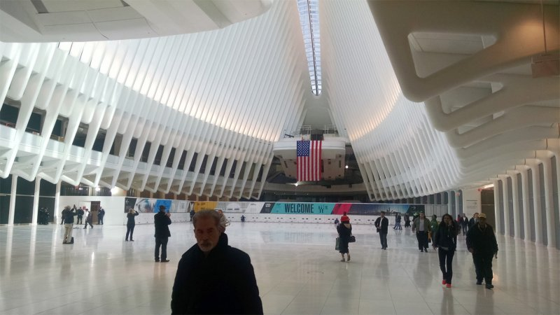 View of the WTC Transit Hub