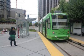 Seattle Lake Union Streetcar at the Westlake Station