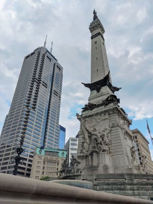 Downtown Indy's Monument Circle