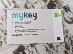 A paper MyKey card