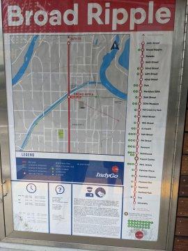 Walking map at Broad Ripple station