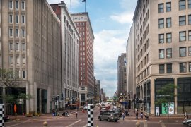 Market Street in Downtown Indy